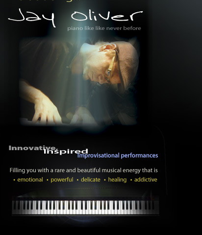"Jay Oliver solo piano CD ""Outside the Box"""